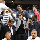 Even stars such as Tom Cruise came to see Sterger last Saturday night in her new role as the Jets' gameday host.