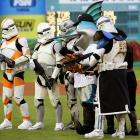 """The Marlins celebrated the opening of """"The Clone Wars"""" last weekend by having Billy the Marlin hang with some """"Star Wars"""" characters."""