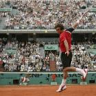 Nadal got the best of Federer in their first Grand Slam meeting with a 6-3, 4-6, 6-4, 6-3 victory in the French Open semifinals.