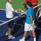 Federer lost 6-3, 6-2 in the semifinals to Mardy Fish of the United States, snapping his 41-match winning streak against American players dating to August 2003.