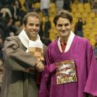 Federer needed just 61 minutes to dispense of former World No. 1 Pete Sampras 6-4, 6-3 in a Seoul exhibition.