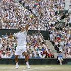 Nadal rallied from a two-set deficit to push his nemesis to five sets, but Federer locked down a 7-6, 4-6, 7-6, 2-6, 6-2 victory to match Björn Borg's record of five straight Wimbledon singles titles.