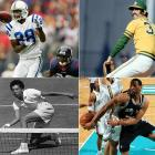 (Clockwise from top left)  Marvin Harrison (1972) Rollie Fingers (1946) Robert Horry (1970) Althea Gibson (1927)