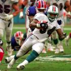 A Buffalo icon for 12 seasons and four Super Bowl appearances, Thomas departed when the Bills ran out of cap space in 2000. Signing with the AFC East arch-rival Dolphins for three years and $3.6 million, Thomas, 34, carried the pigskin 28 times for 136 yards in nine games before a knee injury in a November game against San Diego ended his career.