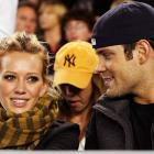 Hilary Duff and boyfriend, New York Islander forward Mike Comrie, said goodbye to Yankee Stadium on Tuesday.