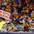 This Mets fan is sick of his team's bullpen -- either that or he has to go to the bathroom.
