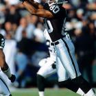 Oakland wide receiver Jerry Rice has 151 yards from scrimmage, bringing his total to 21,281 to pass Walter Payton as the all-time leader. Rice finishes the 2002 season with 22,242 yards from scrimmage.