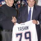 Alexei Yashin, who sat out an entire season in a contractdispute two years earlier, agrees to the longest deal in NHL history. The New York Islanders and the 27-year-old Russian agree to terms on a 10-year contract worth $87.5 million.