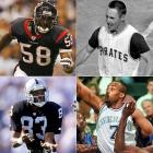 (clockwise from top left) <br><br>Roosevelt Colvin<br>Bill Mazeroski<br>Dennis Scott<br>Willie Gault<br>