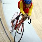 Tang Qi of China during the women's individual pursuit.