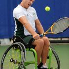 Ben Weeks of Australia in a match against Yoshinobu Fujimoto of Japan.