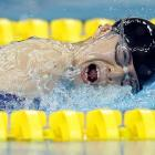 China's Jiang Fuying on her way to a silver medal in the 200 individual medley.