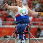 Martin Nemec from the Czech Republic during the discus competition.