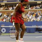 Frustrated early in each set, Serena Williams let out a primal scream at one point and rallied for a straight-sets win.
