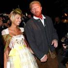 Boris Becker and girlfriend Sandy Meyer-Woelden attended the former tennis star's Oktoberfest Golf trophy party in Munich last week.