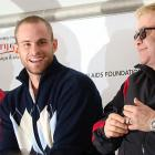 Martina Navartilova and Andy Roddick participated in Elton John's Advanta World Team Tennis SmashHits charity exhibition in Atlanta last week, and all we can focus on is Roddick's uncanny resemblance to Seann William Scott of American Pie.