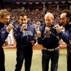 The Backstreet Boys sang the national anthem before Game 1 of the World Series, but the real issue is this: What happened to the other Backstreet Boy?