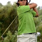 Now that he's conquered tennis, Rafael Nadal tries his hand at golf. He teed off in a ProAm in Borriol, Spain, on Wednesday.