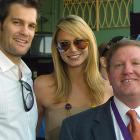 Stacy Keibler and boyfriend Geoff Stults attended the 2008 Breeders' Cup on Oct. 25.