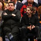"""It was a """"Sopranos"""" reunion at Madison Square Garden on Wednesday as former co-stars Steve Schirripa and Michael Imperioli took in the Heat-Knicks tilt."""