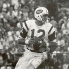The Jets retire Joe Namath's No 12 jersey and beat Miami, 23-7, on Monday Night Football.