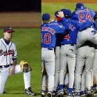 The Braves latest October letdown came at the hands of the upstart Cubs, who snuck into the playoffs on the season's last weekend. Kerry Wood won two games in the series, including the decisive Game 5, as the Cubs won their first postseason series since the 1908 World Series.