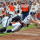 Saints quarterback Drew Brees has notched most of his scores through the air -- 330 touchdown passes -- but he has also run for 10 more scores and converted two-point tries. While with the Chargers in 2003, he caught a 21-yard touchdown pass from LaDainian Tomlinson for his only receiving score.