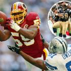 The Redskins linebacker has scored twice on safeties, twice on interception returns, has a fumble recovery for a touchdown and caught a conversion pass from Keith Lyle in a 2000 game against the Falcons.