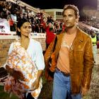 Texas fan Matthew McConaughey, with wife Camila Alves, saw the end of his team's undefeated season last Saturday.