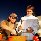 "Carl Edwards teamed up last weekend with Rachael Ray for NASCAR's Asphalt Chef event, a take-off of the Food Network's ""Iron Chef America."" Their competition was..."