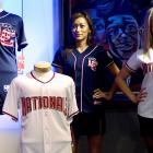 The Washington Nationals will have new uniforms next season, as modeled by these lovely ladies.