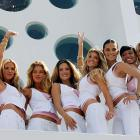 You many have seen many of these women in the pages of SI's Swimsuit Issue, but on Friday, Miranda Kerr, Heidi Klum, Doutzen Kroes, Alessandra Ambrosio, Marisa Miller, Adriana Lima, Selita Banks and Karolina Kurkova posed in front of the Fontainebleau Hotel in Miami Beach, Fla.