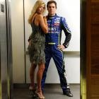 Jimmie Johnson got a little frisky with his wife, Chandra, during his recent SI cover shoot.
