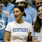 Ashley Judd went into enemy territory on Tuesday to cheer on her Kentucky Wildcats, who ended up getting blown out by North Carolina, 77-58.