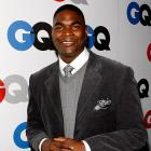 "A dapper Keyshawn Johnson attended GQ's ""Men of the Year"" party held in Los Angeles on Tuesday."