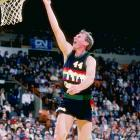 In a 118-111 loss at New Jersey, Denver center Dan Issel scores his 20,000th career point, becoming the 12th man in pro basketball history to reach that plateau.