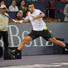 """""""When I came back I was playing very well. I gave everything on every ball,"""" Tsonga said. """"Nikolay today was just better than me. We saw in the tie-break he was better physically, and that made the difference."""""""
