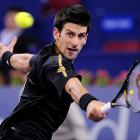 Jo-Wilfried Tsonga of France beat Novak Djokovic (pictured) of Serbia 1-6, 7-5, 6-1. Djokovic had already been assured of a spot in the semis. Tsonga had been eliminated.
