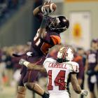 Virginia Tech receiver Jarrett Boykin pulls in one of his three catches in the Hokies' key Thursday night win over Maryland.