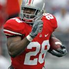 """In perhaps his final Michigan-Ohio State game, junior tailback Chris """"Beanie"""" Wells ran for 134 yards (on just 15 carries) and one score in the Buckeyes' largest win over the Wolverines in 40 years."""
