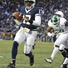 With another landslide home win, the Nittany Lions have offiically booked a trip to Pasadena, by virtue of claiming a share of the Big Ten crown (with Ohio State). On the day, QB Daryll Clark threw for 341 yards and four TDs.