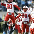 Are there really any upsets in the ACC this year, especially between bitter rivals? Dominique Ellis (one interception) couldn't help but jump for joy over the Wolfpack's surprisingly easy win on Tobacco Road.