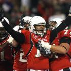 Quarterback Nate Davis celebrates after guiding Ball State to its first perfect regular season since going 8-0 in 1949.