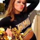 Meet Kylee, a Western Michigan junior and proud Bronco cheerleader. When Kylee's not watching her dad scare off her dates with a shot gun, she's hula hooping on table tops, swearing uncontrollably and wishing she were tall enough to be on 'America's Next Top Model.' Want to find out more? Click on the '20 Questions' link below.