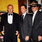 Kevin Costner joined Jimmie Johnson and Richard Petty at the NASCAR Sprint Cup Series Awards Ceremony in New York on Dec. 5.