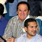 Also on hand for the fight -- in Las Vegas -- was Pete Rose. Insert your own joke.