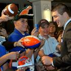 Tim Tebow, in New York on Thursday for the Heisman ceremony, encountered some loyal fans.