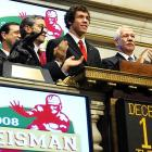 Sam Bradford continued his Heisman tour on Tuesday, when he rang the opening bell at the New York Stock Exchange.