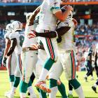 In an NFL record-tying turnaround, the Miami Dolphins (11-5) won 10 more games in 2008 than they did in 2007, when they went 1-15.