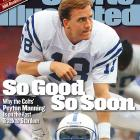 In his second season as the Colts' starting quarterback, Peyton Manning cut his interceptions nearly in half (from 28 in '98 to 15), and, after a 2-2 start, led his team to 11-straight wins and the No. 2 seed in the AFC.